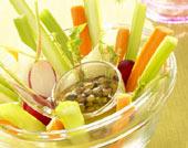 Salade de fenouils à la vinaigrette de lentilles